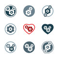 Gear system power development icons Royalty Free Stock Photo