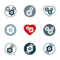 Gear system power development and progress theme unusual icons s Royalty Free Stock Photo