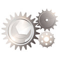 Gear system with spanner Stock Photography