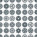 Gear vector illustration mechanics gearing web development shape work cog engine wheel equipment machinery seamless Royalty Free Stock Photo