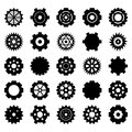 Gear vector set for your design Royalty Free Stock Photo
