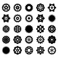 Gear vector set for your design Royalty Free Stock Photos