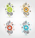 Gear wheel on a grey background a vector illustration Royalty Free Stock Photo