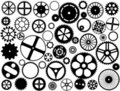 Gear wheel silhouettes Stock Images