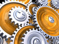 Gear wheels background Stock Image