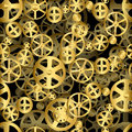 Gear wheels background repeating gold seamless industrial Stock Images