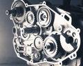 Gear wheels inside of an engine