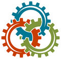Gear wheels logo Royalty Free Stock Photo