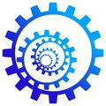Gear wheels logo Stock Image
