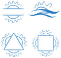 Gear wheels logo set Royalty Free Stock Photo