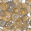 Gear wheels seamless texture illuctration clip art Royalty Free Stock Photos