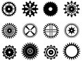 Gear wheels set of illustrated on white background Royalty Free Stock Photo