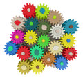 Gear wheels on white Stock Image
