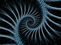 Gear world blue gears series background of blue fractal elements for your design needs on the subject of industry science and Royalty Free Stock Images