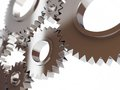 Gears abstract background on a white Stock Photos