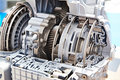 Gears of automatic transmission Royalty Free Stock Photo