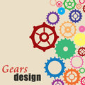 Gears background design Stock Images