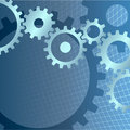 Gears background with technical grid Royalty Free Stock Photography