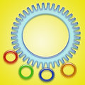 Gears a background with various sizes of Royalty Free Stock Image