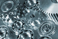 Gears and bearings on display Stock Photography