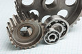 Gears and bearings Royalty Free Stock Photo