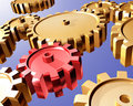 Gears and cogs Stock Photo