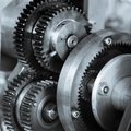 Gears and cogs of old machine Royalty Free Stock Photo