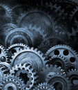 Gears Cogs Retro Industrial Background Royalty Free Stock Photo