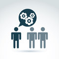 Gears and cogs working team system theme icon, dialog and messag Royalty Free Stock Photo