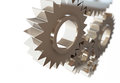 Gears concept background machine gear on a white Royalty Free Stock Images