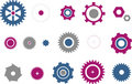 Gears icon set Stock Image