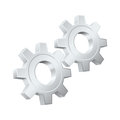 Gears icon vector metallic cog wheels Royalty Free Stock Photo