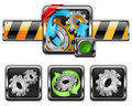 Gears icons Stock Photos