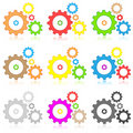 Gears icons Stock Photo