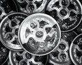 Gears and mainspring Royalty Free Stock Photo