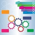 Gears mechanism work for idea concept