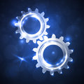 Gears mechanisms of gear teeth Royalty Free Stock Photography