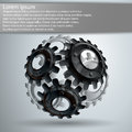 Gears mechanisms of gear teeth Stock Images