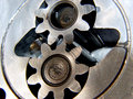 Gears Meshing Royalty Free Stock Photo