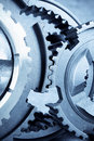 Gears meshing together Royalty Free Stock Image