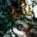 Gears metal with medium texture Stock Image