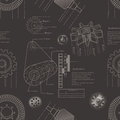 Gears seamless pattern vector illustration of Stock Image