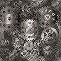 Gears seamless pattern vector illustration of part Stock Photography