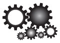 Gears set of mechanical for your design Royalty Free Stock Images