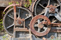 Gears steam powered train Royalty Free Stock Photos