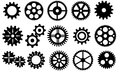 Gears vector set Royalty Free Stock Photo