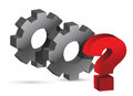 Gears working together question Royalty Free Stock Photography