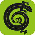 Gecko icon visual vector file of design Stock Image