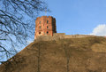 Gediminas castle in vilnius remaining tower of upper is the symbol of the city of lithuania europe spring time Royalty Free Stock Images