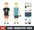 Geek Character Set Royalty Free Stock Photo